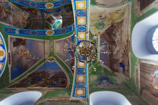 Russia, Vladimir Oblast, Golden Ring, Suzdal, Resurrection Church, interior : Stock Photo
