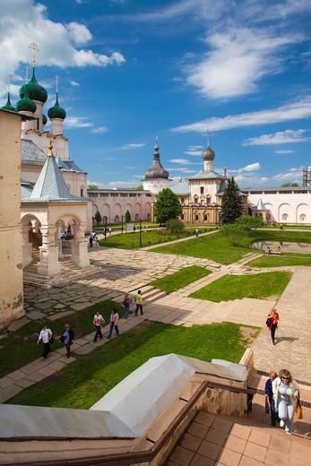 Stock Photo: 1566-871979 Russia, Yaroslavl Oblast, Golden Ring, Rostov-Veliky, Rostov Kremlin, Gate Church of Saint John the Devine