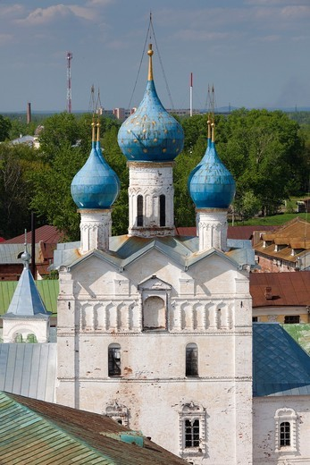 Stock Photo: 1566-871993 Russia, Yaroslavl Oblast, Golden Ring, Rostov-Veliky, Rostov Kremlin, elevated view