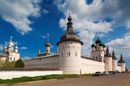 Stock Photo: 1566-871995 Russia, Yaroslavl Oblast, Golden Ring, Rostov-Veliky, Rostov Kremlin, West Gate