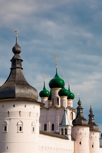 Russia, Yaroslavl Oblast, Golden Ring, Rostov-Veliky, Rostov Kremlin, West Gate : Stock Photo