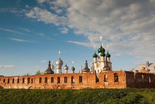Russia, Yaroslavl Oblast, Golden Ring, Rostov-Veliky, Rostov Kremlin, sunset : Stock Photo