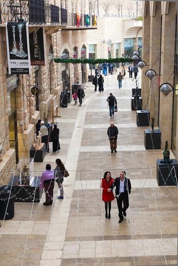 Israel, Jerusalem, New City, Mamilla Mall Promenade, NR : Stock Photo