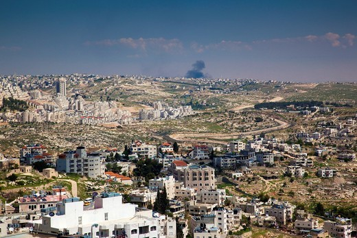 Stock Photo: 1566-872461 Israel, West Bank, Bethlehem, elevated town view