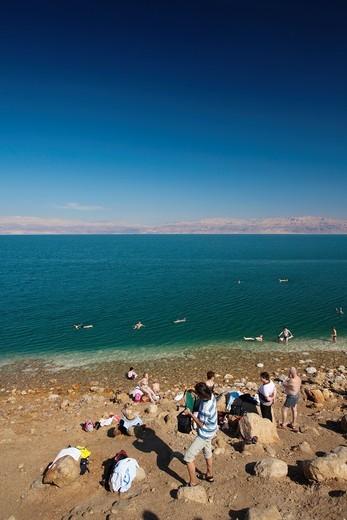 Stock Photo: 1566-872537 Israel, Dead Sea, Ein Gedi, Ein Gedi Beach, NR