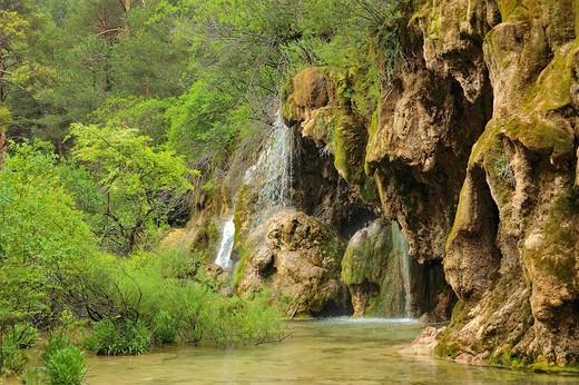 Nacimiento del río Cuervo : Stock Photo