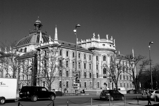 Palace of Justice in Munich : Stock Photo