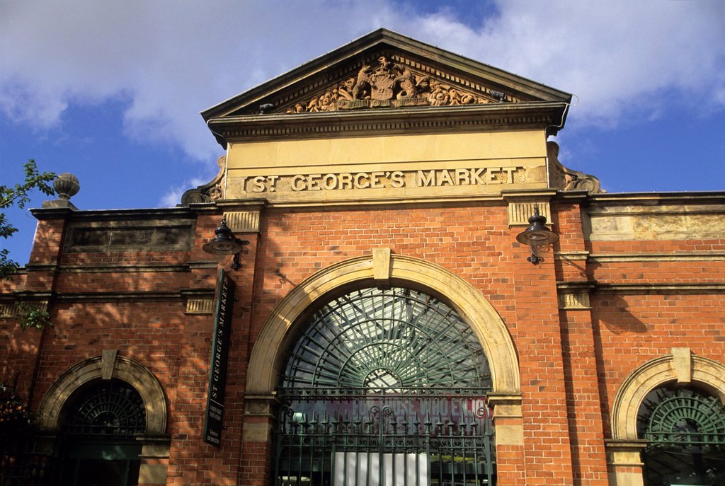 St George's Market, Belfast, Northern Ireland, United Kingdom, Western Europe : Stock Photo