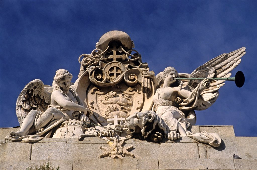 Stock Photo: 1566-877508 pediment of the Lorenzana university Palace, Toledo, autonomous community Castile-La Mancha, Spain, Europe