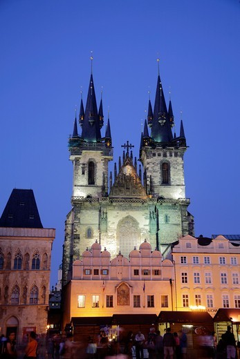 Stock Photo: 1566-878246 Church of Our Lady before Týn in the Old town Stare Mesto, Prague, Czech Republic