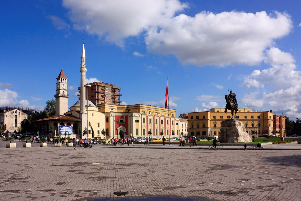 Stock Photo: 1566-878689 Skanderbeg Square, Tirana, Albania