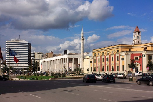 Skanderbeg Square, Tirana, Albania : Stock Photo