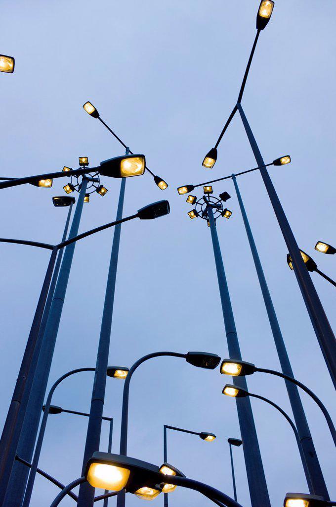 Street lamps, Bilbao, Euskadi, España : Stock Photo