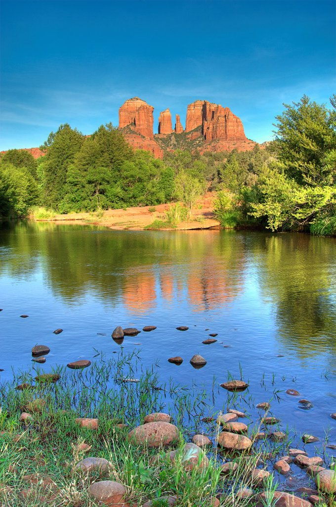 Stock Photo: 1566-879686 Cathedral Rock, Sedona, Red Rock Country, Arizona, USA