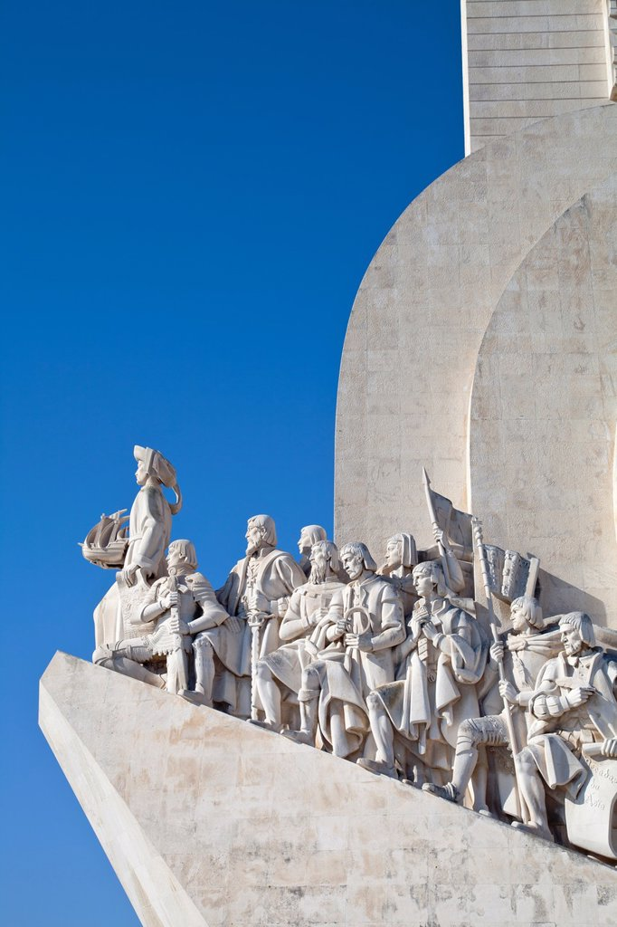 Padrão dos Descobrimentos, Monument to the Discoveries, celebrating Henri the Navigator and the Portuguese Age of Discovery and Exploration, Belem district, Lisbon, Portugal, Europe : Stock Photo