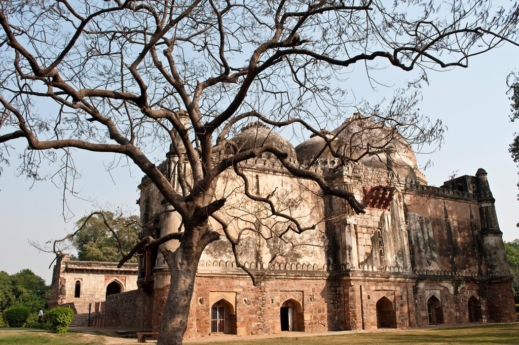 Bara Gumbad mosque, Lodi Gardens, New Delhi, India : Stock Photo