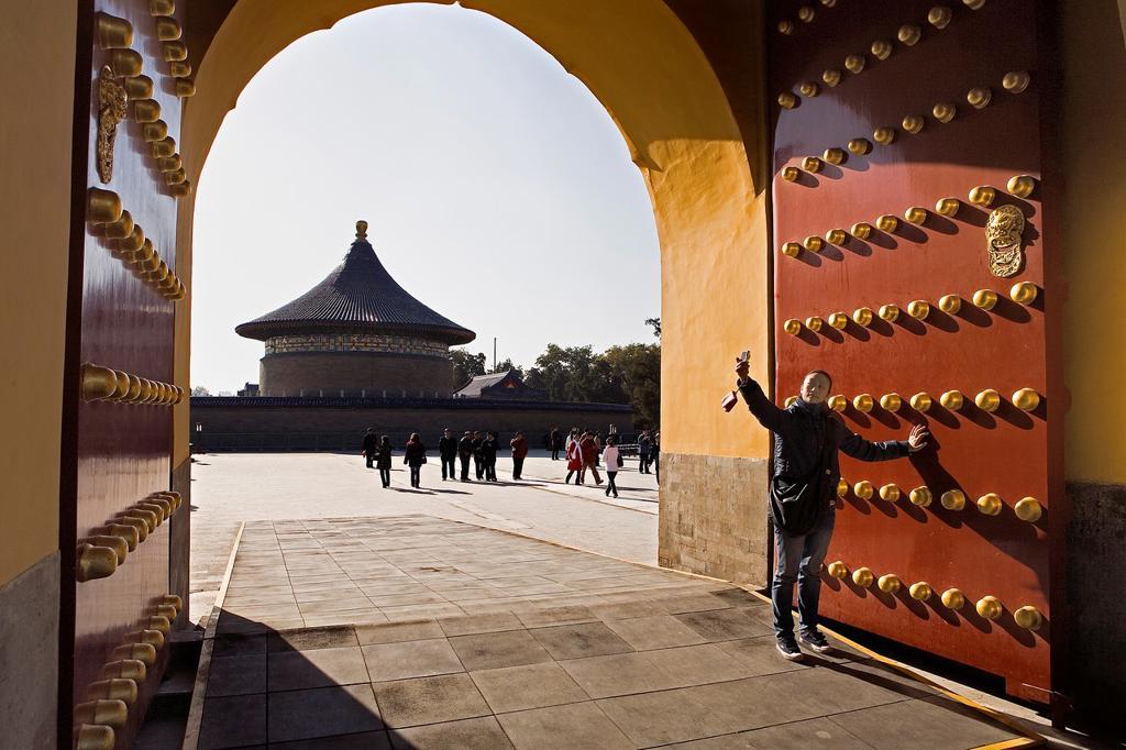 Stock Photo: 1566-880679 Temple of Heaven  Tiantan gateway,Beijing, China