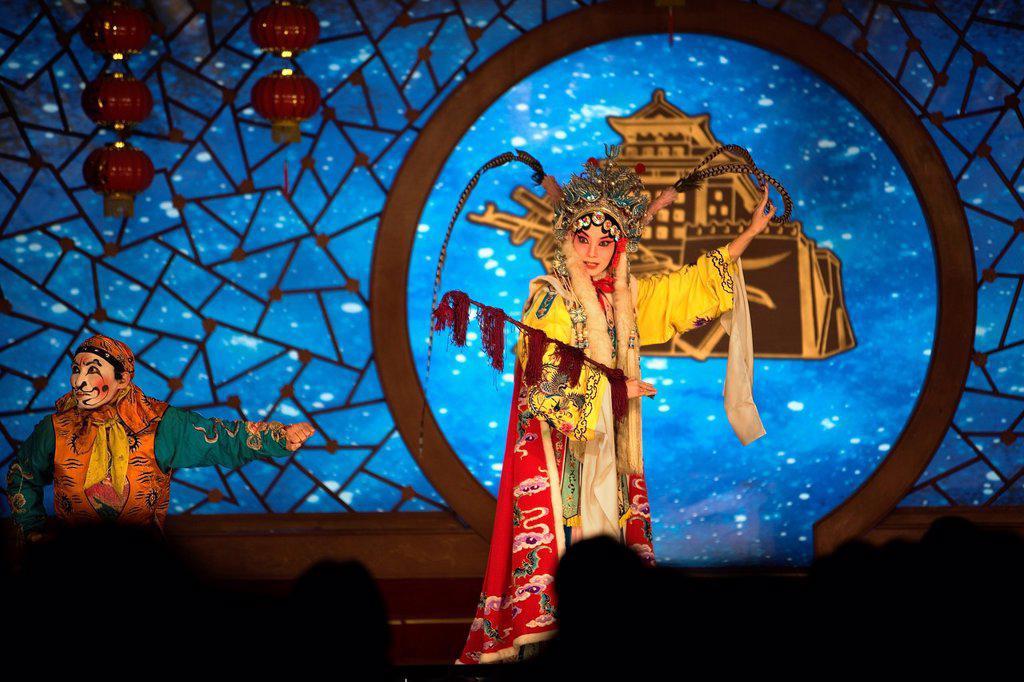 Stock Photo: 1566-880764 Pekin opera show  Laoshe Teahouse  Nº3 Qianmen Avenue West,Beijing, China