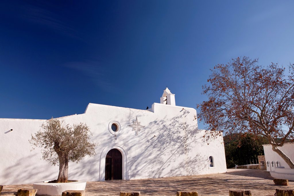 Stock Photo: 1566-881280 Church in Santa Agnès de Corona, Ibiza, Illes Balears, Spain