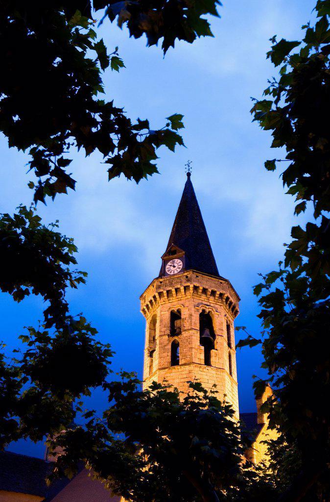 Stock Photo: 1566-881321 Vielha  Sant Miquèu church,Aran Valley,Pyrenees, Lleida province, Catalonia, Spain