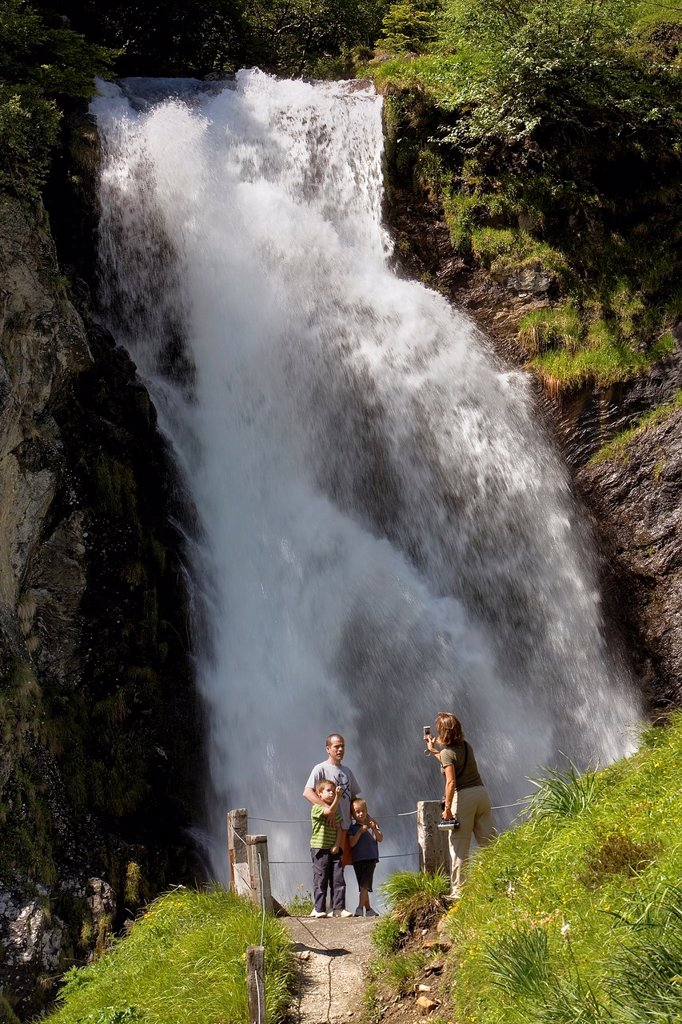 Sauth deth pish  Waterfall,Aran Valley,Pyrenees, Lleida province, Catalonia, Spain : Stock Photo