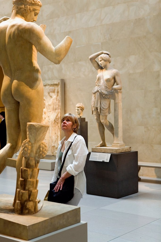 The MET, Metropolitan Museum of Art  Greek and Roman galleries,New York City, USA : Stock Photo