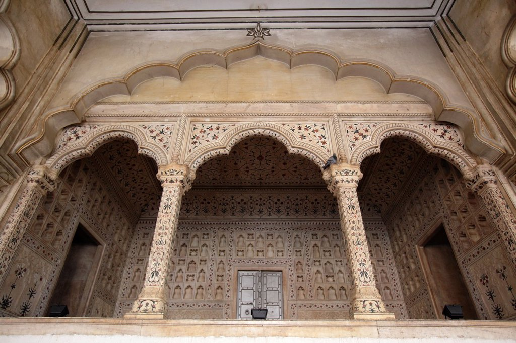 Stock Photo: 1566-881448 Diwan I Am Hall of Public Audience at Agra Fort, Agra, India