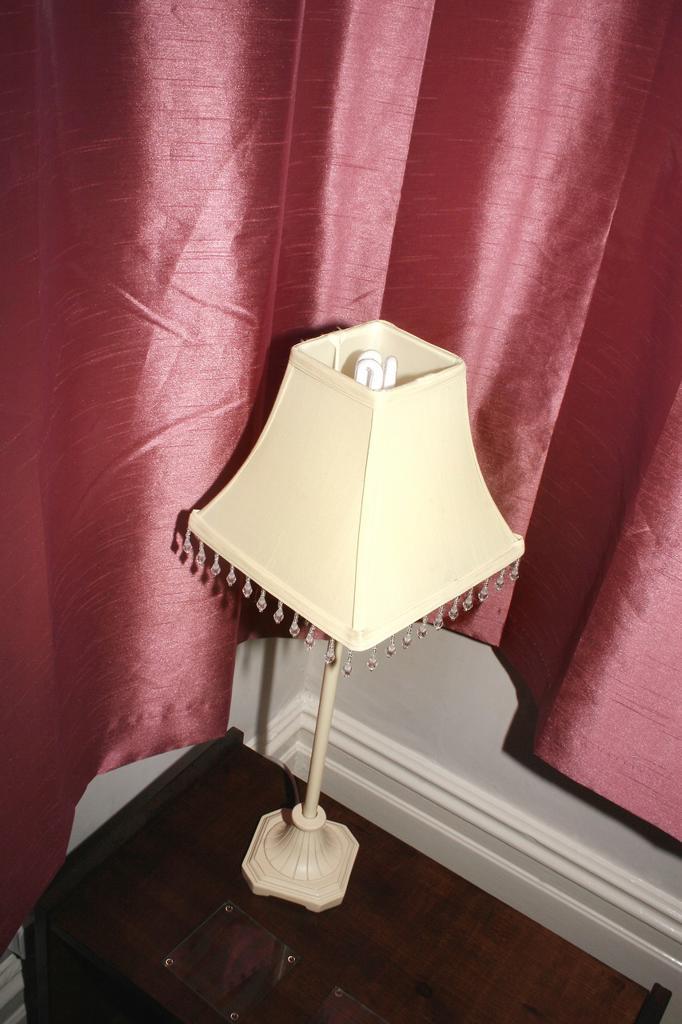 Stock Photo: 1566-881614 lampshade on sidetable  Belvedere hotel  Blackpool, Lancashire, England, UK