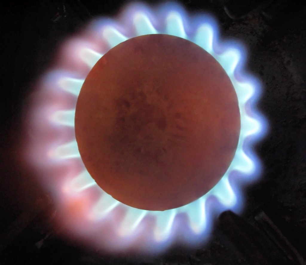 Stock Photo: 1566-881761 Gas Flame on Cooker