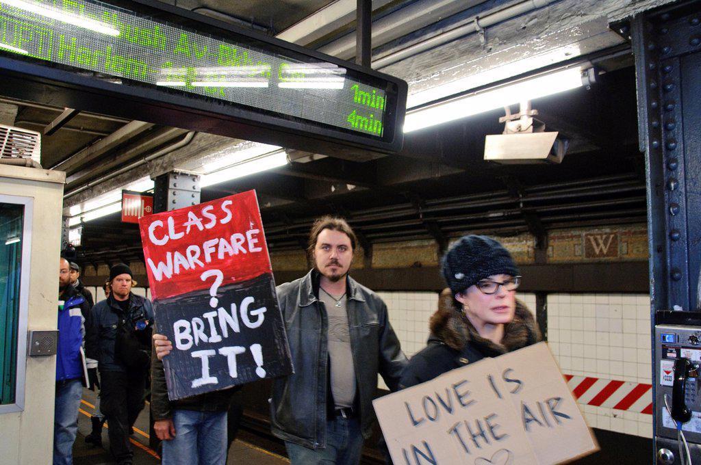November 17, 2011, Occupy Wall Street, Downtown Manhattan, Wall Street financial area vicinity : Stock Photo