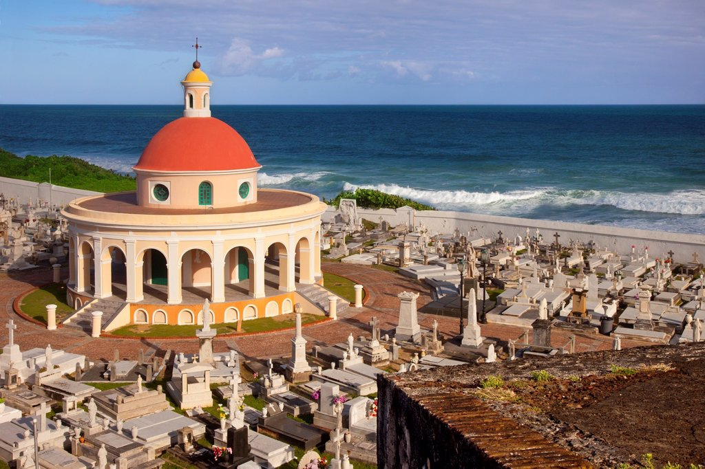Stock Photo: 1566-884027 Historic Santa Maria Magdalena de Pazzis Cemetery in old San Juan Puerto Rico