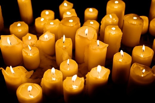 candles at a wedding ceremony : Stock Photo