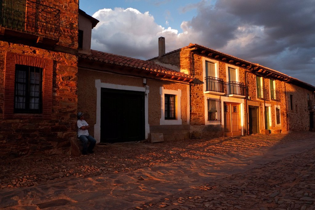 Stock Photo: 1566-885884 Castrillo de los Polvazares  Leon  Castila-Leon  Spain  Camino de Santiago  The way of St  James