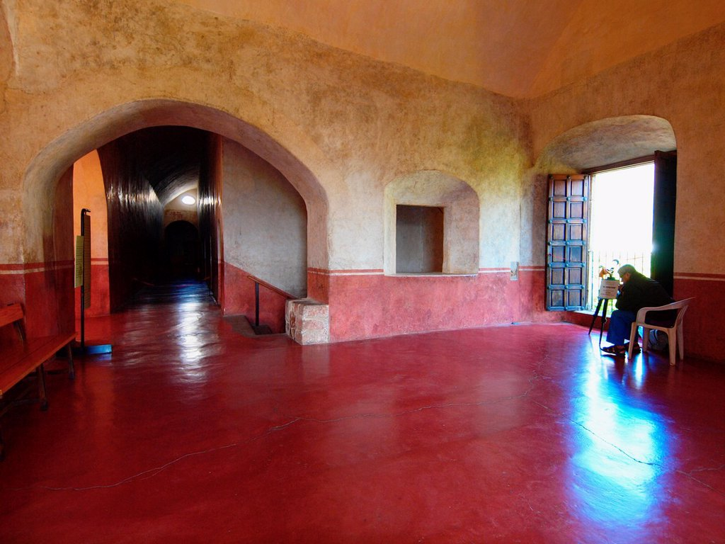 Stock Photo: 1566-887859 Hall. Natividad convent. 1570. Tepoztlan. Mexico.