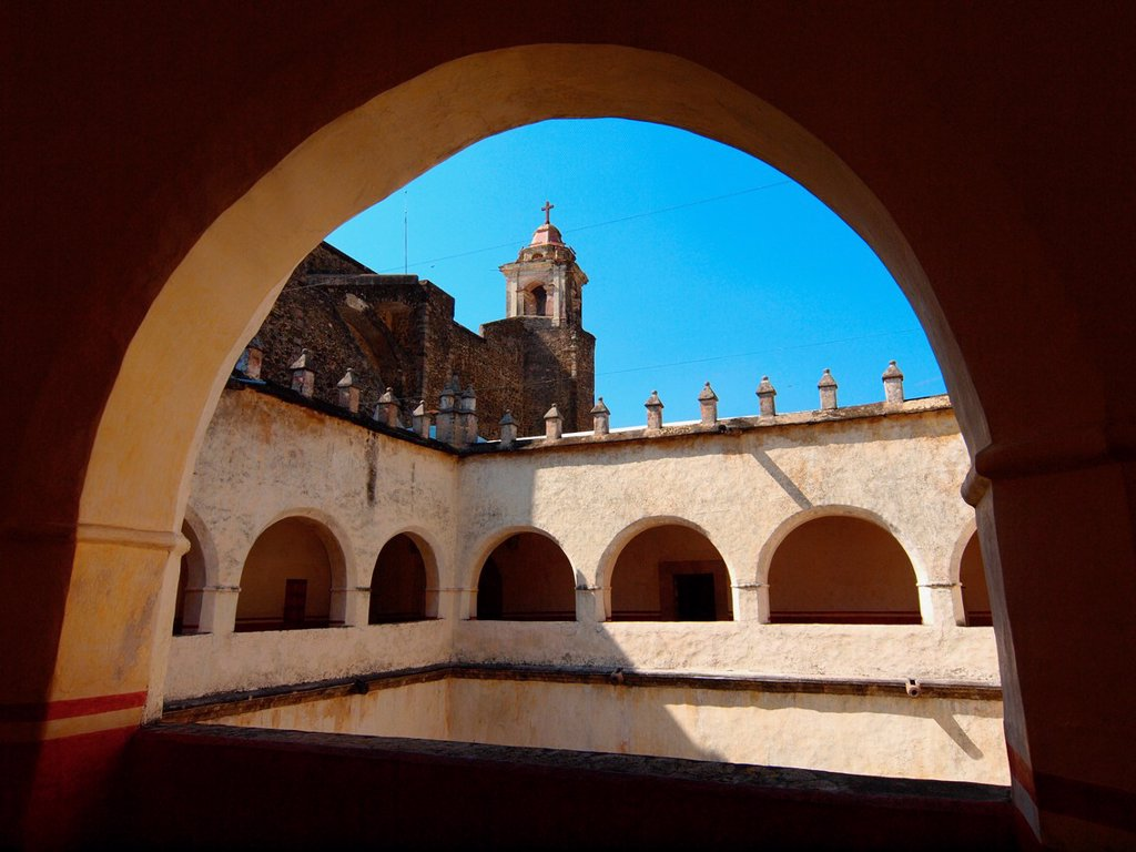 Cloister. Natividad convent. 1570. Tepoztlan. Mexico. : Stock Photo