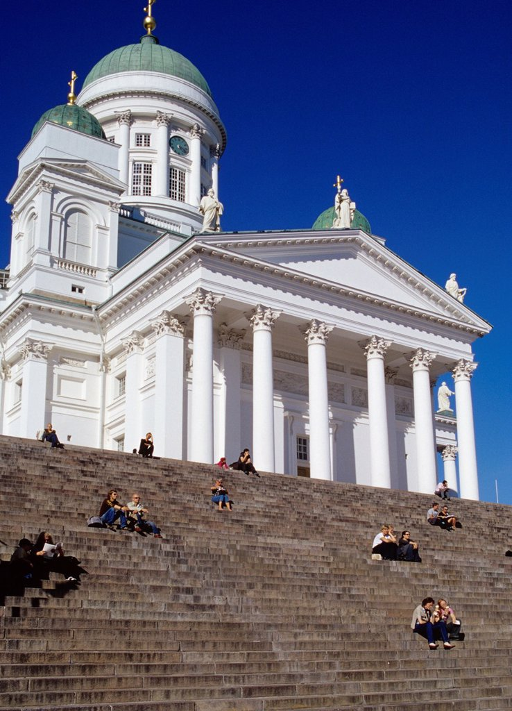 Stock Photo: 1566-888053 Helsinki, Finland  Helsinki Cathedral is an Evangelical Lutheran cathedral of the Diocese of Helsinki, located in the centre of Helsinki, Finland  The church was originally built as a tribute to the Grand Duke, Nicholas I, the Tsar of Russia and until the. Helsinki, Finland  Helsinki Cathedral is an Evangelical Lutheran cathedral of the Diocese of Helsinki, located in the centre of Helsinki, Finland  The church was originally built as a tribute to the Grand Duke, Nicholas I, the Tsar of Russia a
