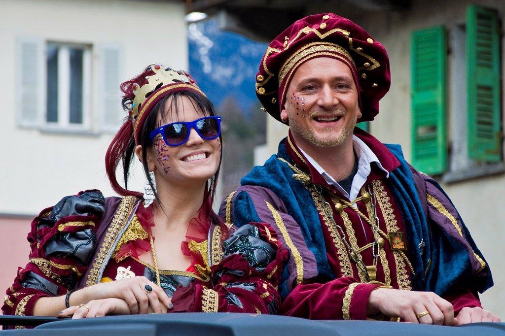 Stock Photo: 1566-890123 Carnival parade, Biasca, Canton Ticino, Switzerland