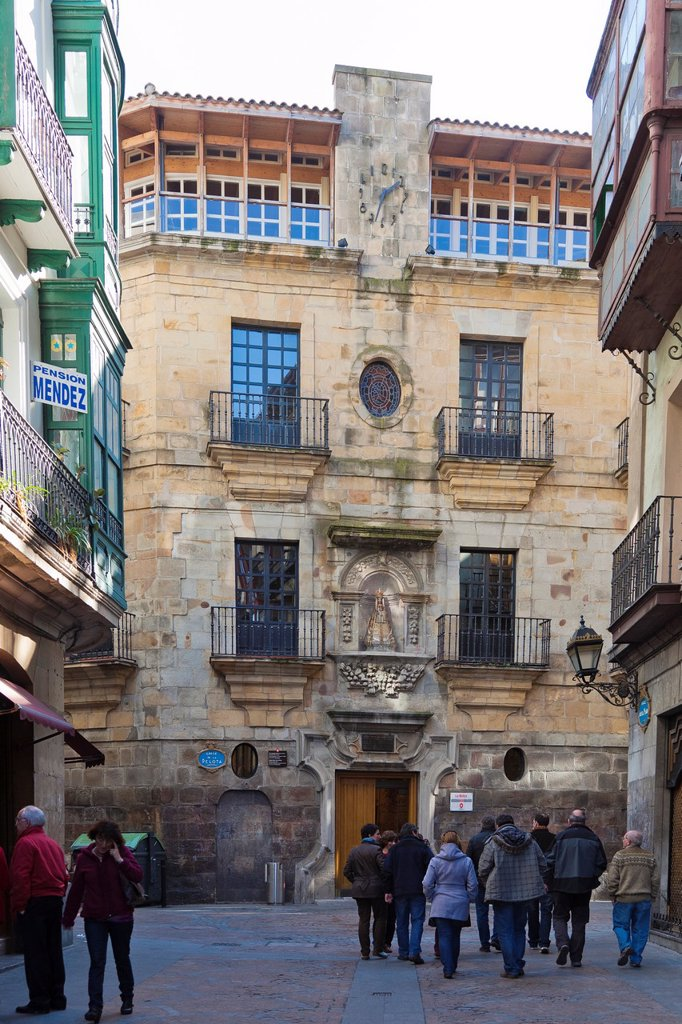 Stock Photo: 1566-890147 Civic Center La Bolsa in the Old Quarter of Bilbao