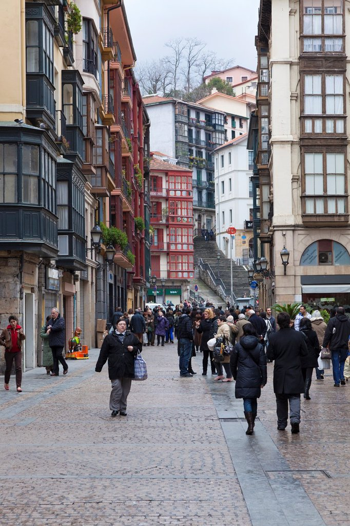 Stock Photo: 1566-890268 Square of Santos Juanes in the Old Quarter of Bilbao