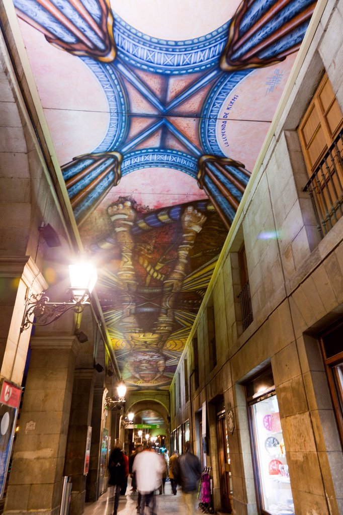 Arches of the Ribera in Bilbao : Stock Photo