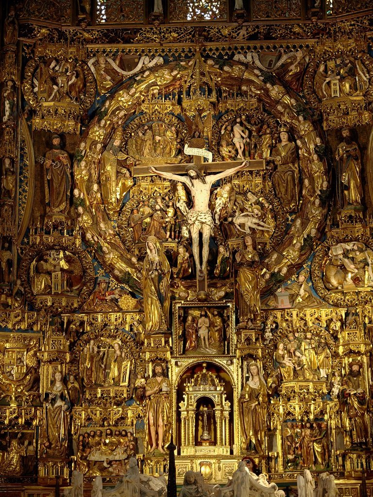 Stock Photo: 1566-890802 Altarpiece in La Cartuja de Miraflores in Burgos