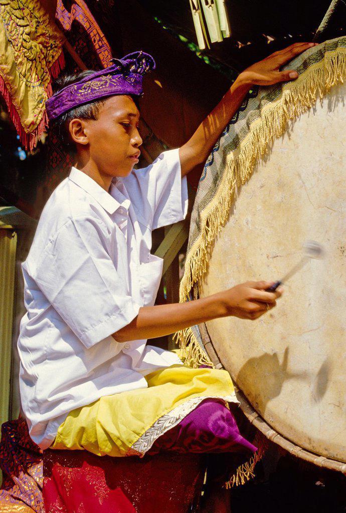 Stock Photo: 1566-891277 Gamelan drummer
