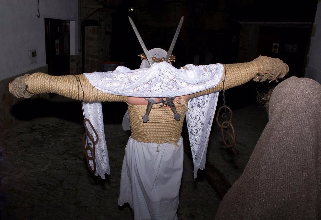Stock Photo: 1566-891484 Los Empalaos, Holy Week, Valverde de la Vera, Cáceres, Spain