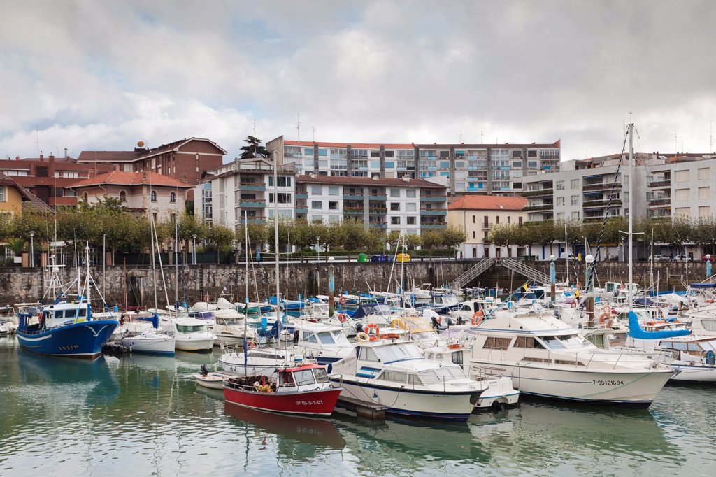 Stock Photo: 1566-892018 Spain, Basque Country Region, Vizcaya Province, Gorliz, boat marina
