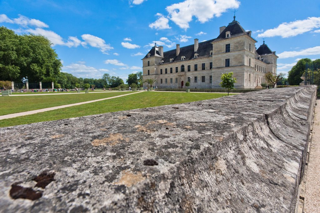 The picturesque castle of Ancy-le-Franc, Burgundy, France, Europe : Stock Photo