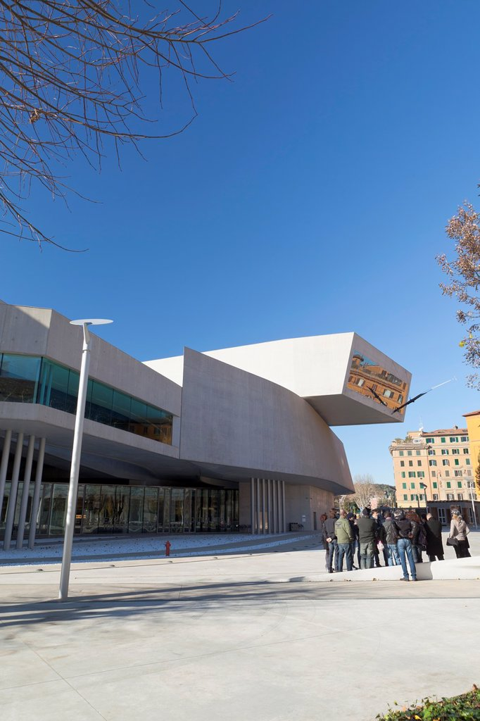 Stock Photo: 1566-892511 The MAXXI, National Museum of 21st Century Arts, Rome, Italy