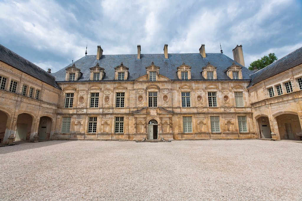 The picturesque castle of Bussy-Rabutin, Burgundy, France, Europe : Stock Photo