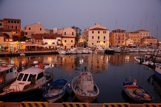 Cala Gavetta harbour, La Maddalena, Sardinia, Italy : Stock Photo