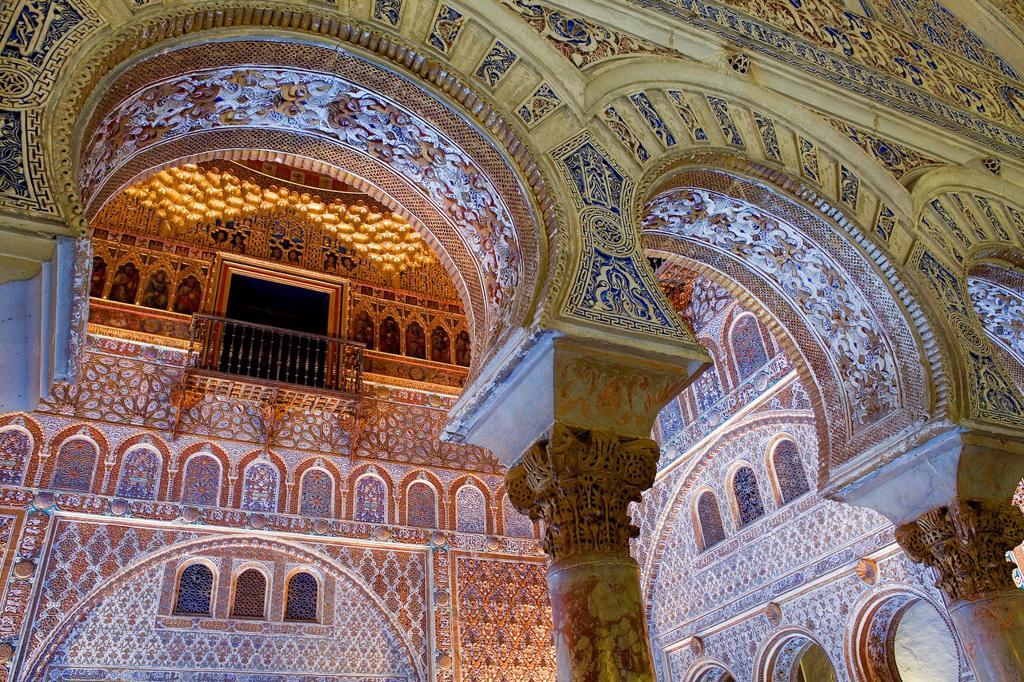 Stock Photo: 1566-893242 Royal Alcazar,detail of 'Salón de Embajadores', Ambassador's Hall, Sevilla, Andalucía, Spain