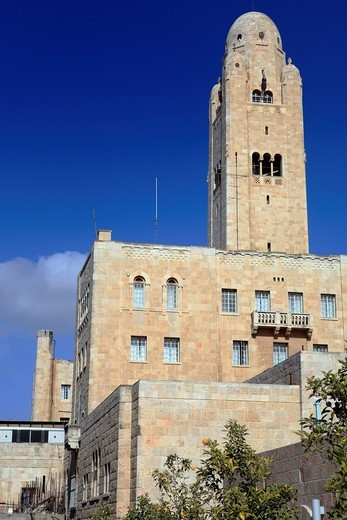 YMCA building 1928-1933, Jerusalem, Israel : Stock Photo